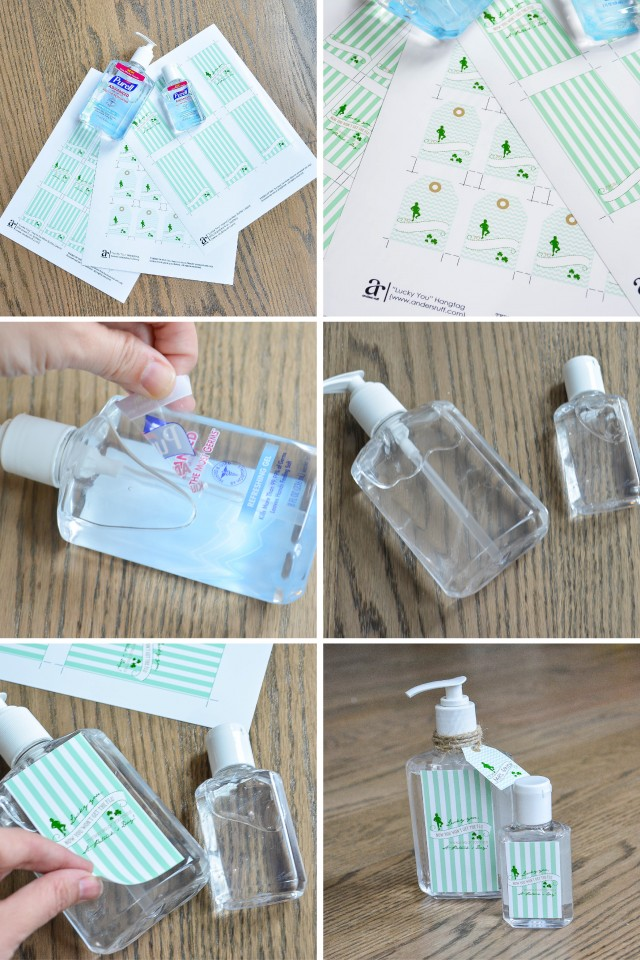 How to create Lucky hand sanitizer labels