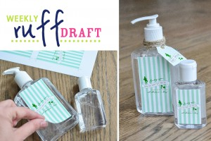 St. Patrick's Day Hand Sanitizer Printable Labels