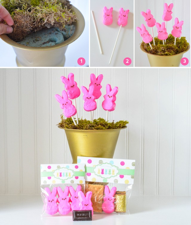 Creating Easter Peeps Topiary