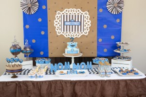cookie monster birthday party desserts