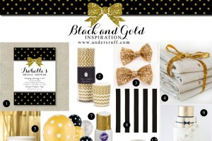 Gold Glitter Bow Invite