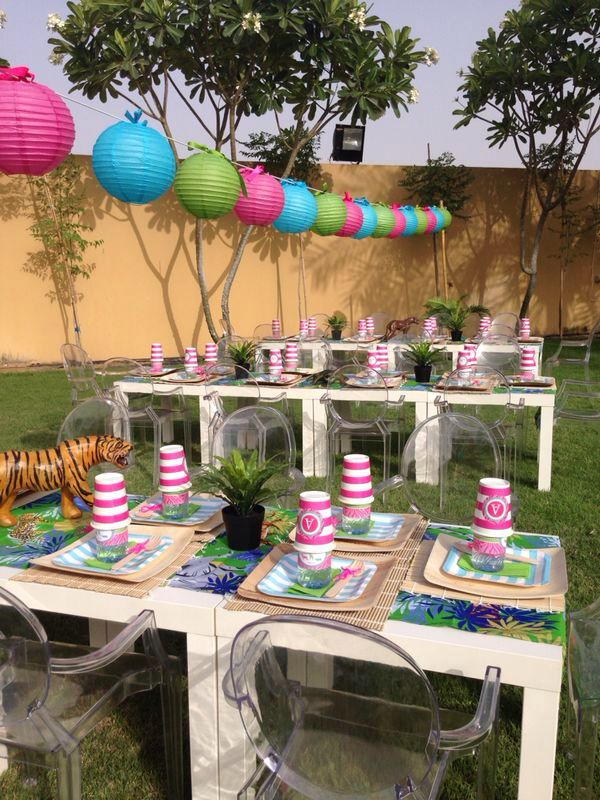 safari party setup