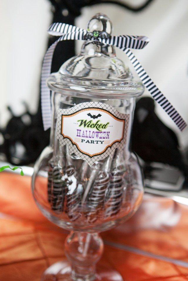 wicked witch halloween party apothecary jar