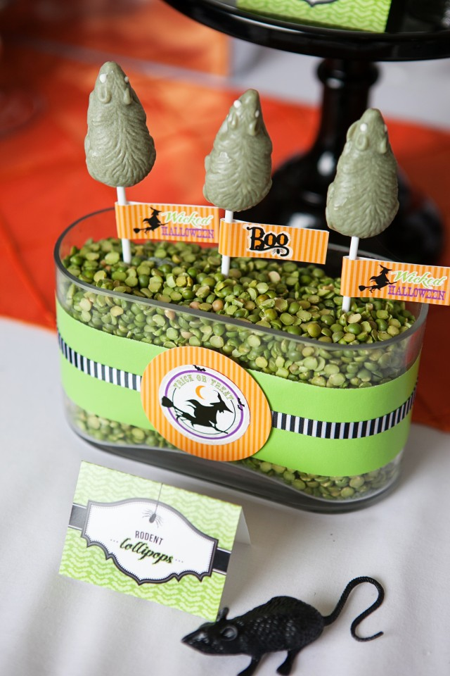 wicked witch halloween party rodent lollipops