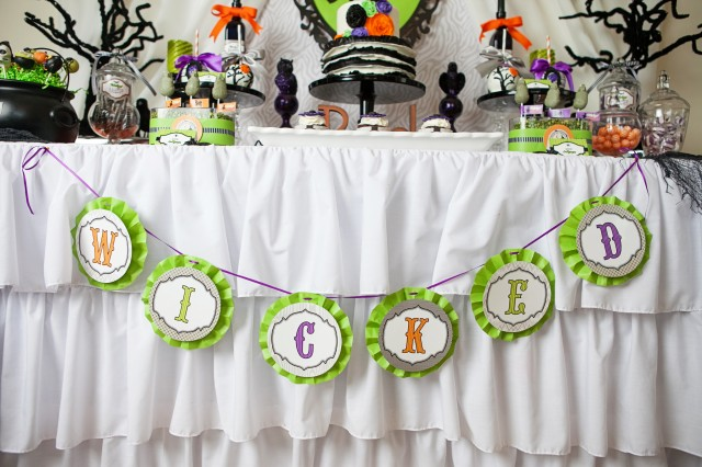 wicked witch halloween party banner