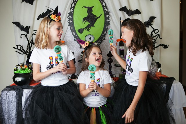 wicked witch halloween party candy kabobs