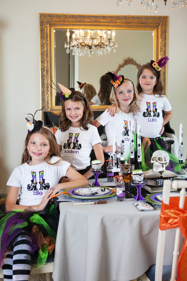 wicked witch halloween party dining table