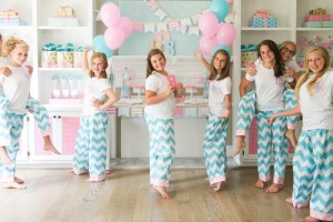 Monogram themed birthday party for tweens/teens