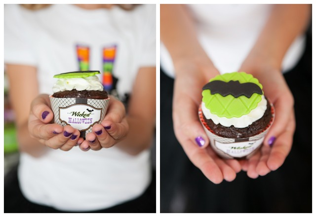 wicked witch Halloween party cupcakes