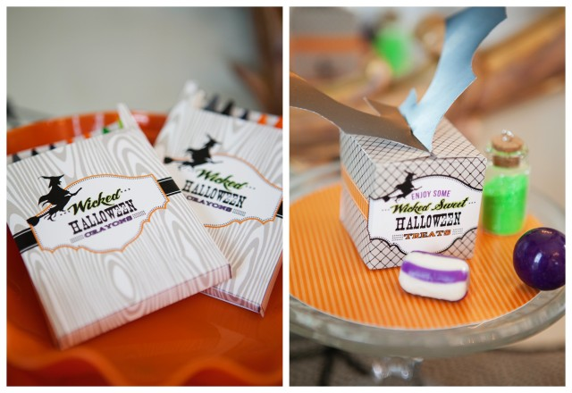 wicked witch halloween party favors