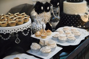 Desserts for Black and White Party