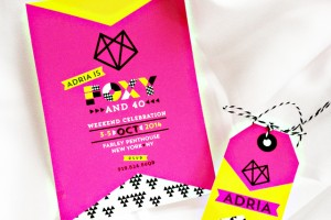 foxy 40th birthday party invitation