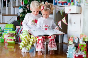 Embroidered custom Christmas Pajamas with Magic Elf