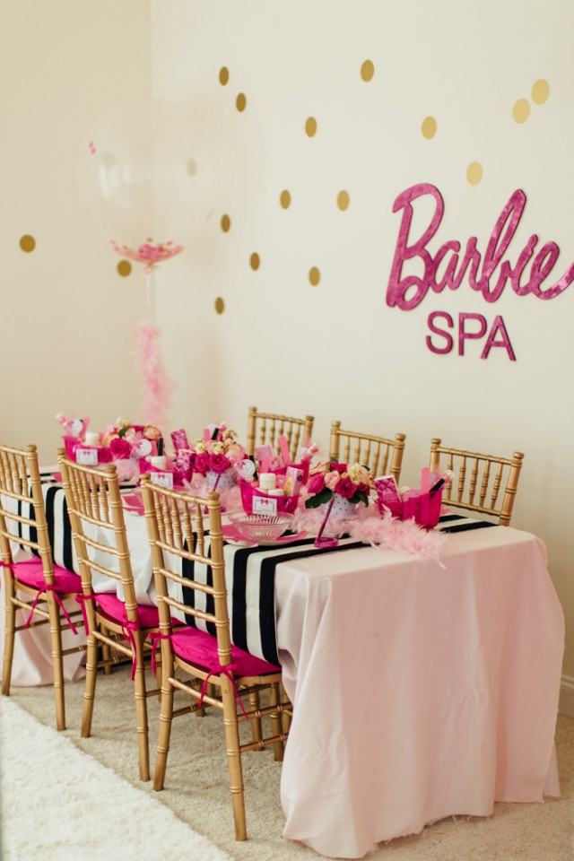 Glam Barbie Spa Party Anders Ruff Custom Designs Llc