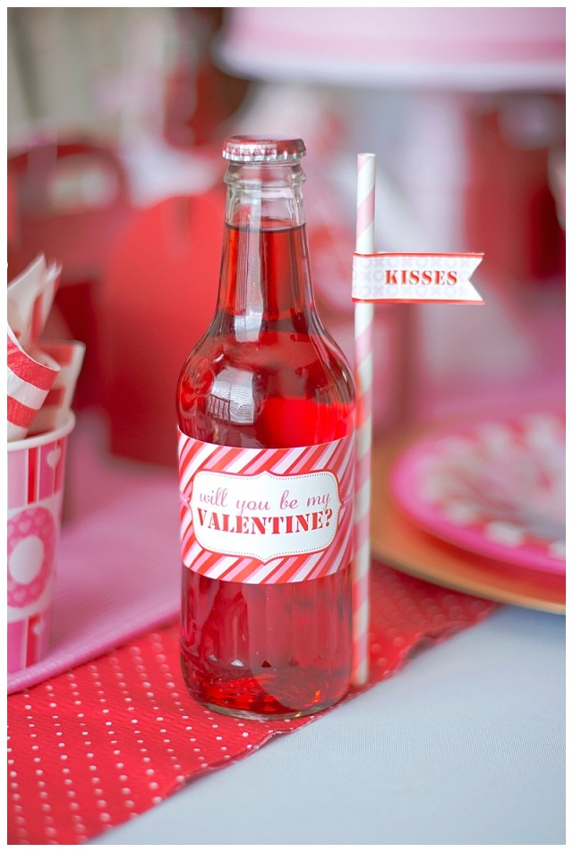 Valentine's Day drink labels