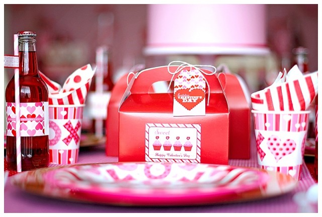 Valentine's Day place settings