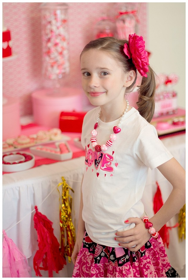 Little girl Valentine outfit