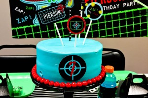 laser tag cake toppers