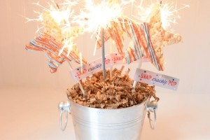 Rice crispy stars and sparklers