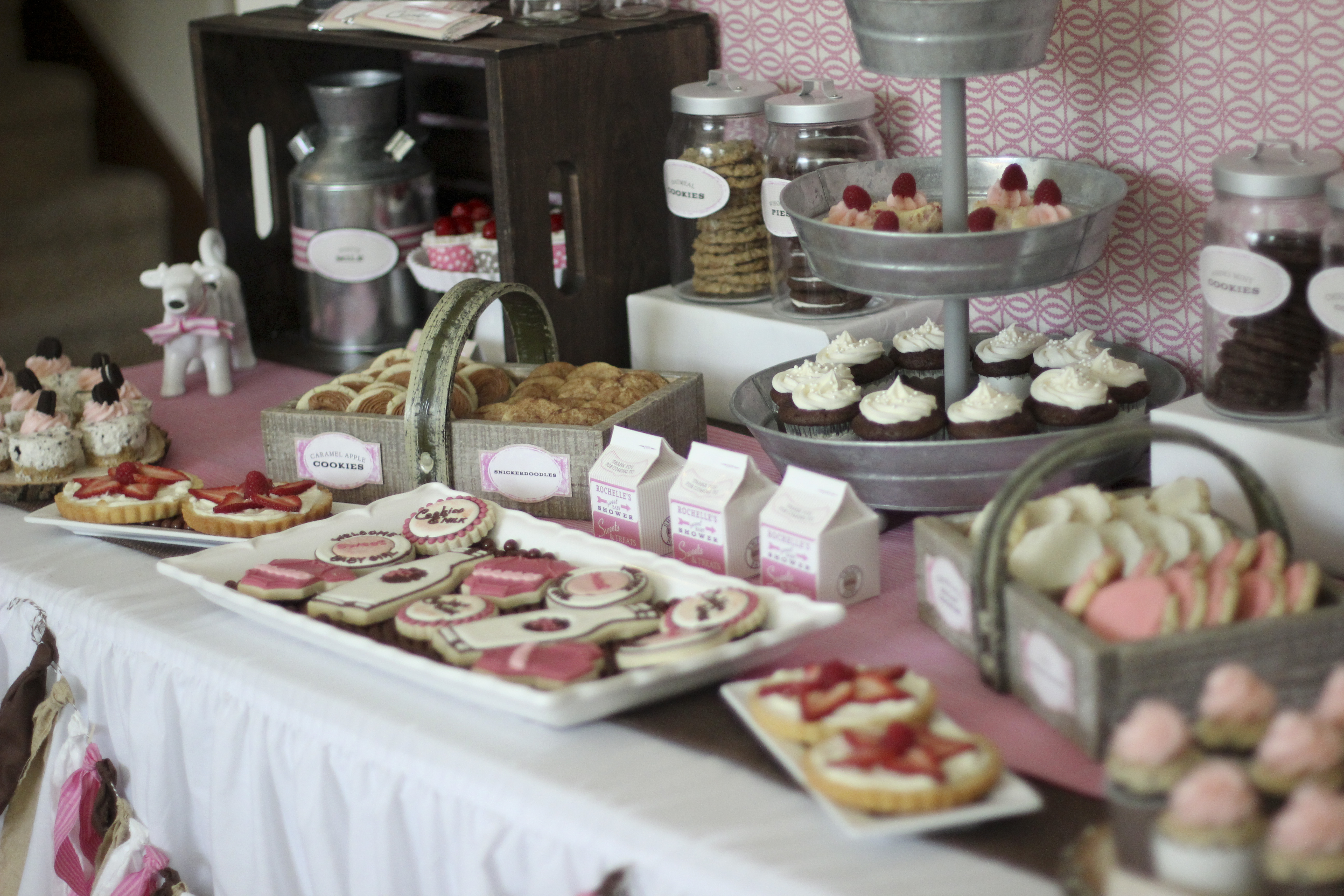 A Sweet Cookies Milk Baby Shower Hoopla Events Krista O Byrne