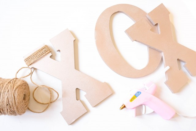 Valentine's Day xoxo wooden letters